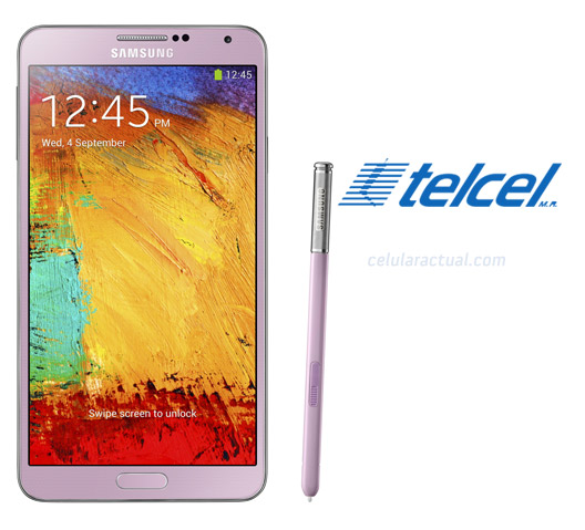 El Samsung Galaxy Note 3 color Rosa ya en Telcel