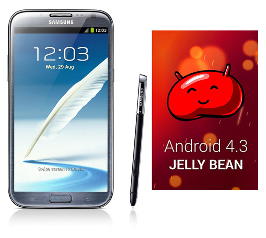 Samsung Galaxy Note II con Android 4.3 Jelly Bean