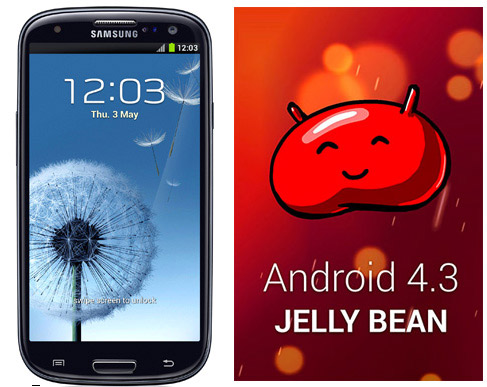 Samsung Galaxy S III con Android 4.3 Jelly Bean