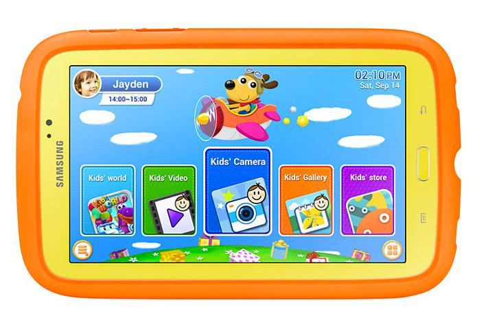Samsung Galaxy Tab 3 Kids frente pantalla