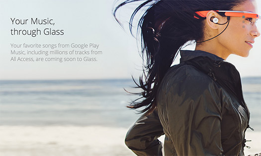 Google Glass con Google Play Music