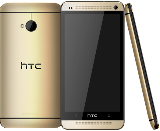 HTC One gold color oro