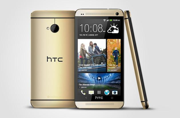 HTC One gold color oro 2