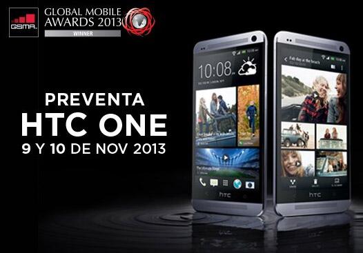 HTC One preventa en México con Telcel detalle