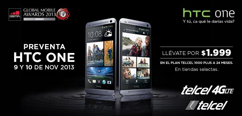 HTC One preventa en Telcel