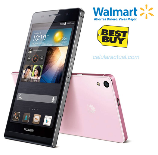 Huawei Aacend P6 libre en México Walmart  y Best Buy
