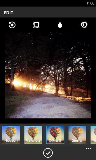 Instagram Windows Phone 8 Edición de foto