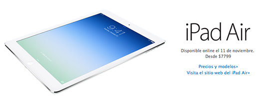 iPad Air en México el 11 de noviembre