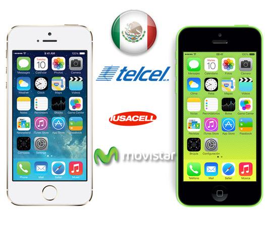 iPhone 5S y iPhone 5C en Telcel, Iusacell y Movistar