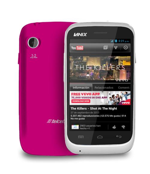 Lanix Ilium S120 con Android 4.2 Jelly Bean