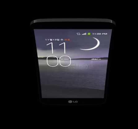 LG G Flex profundidad en pantalla curva