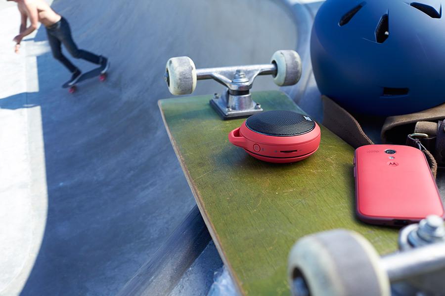 Motorola Moto G accesorio bocina en patineta