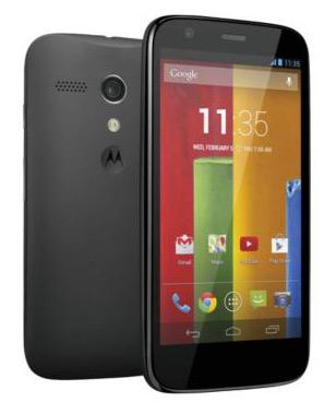 Motorola Moto G frente y cámara trasera