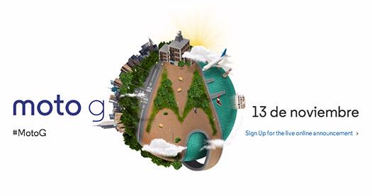 Moto G será presentado el 13 de noviembre a nivel mundial