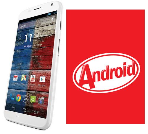 Moto X con Android 4.4 KitKat Egg