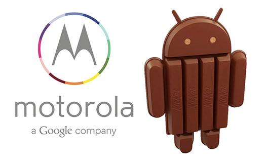 Motorola a Google Company y Android KitKat de chocolate