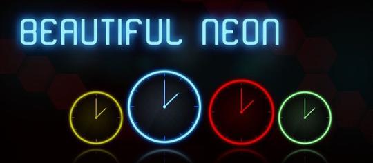 app neon clock widget