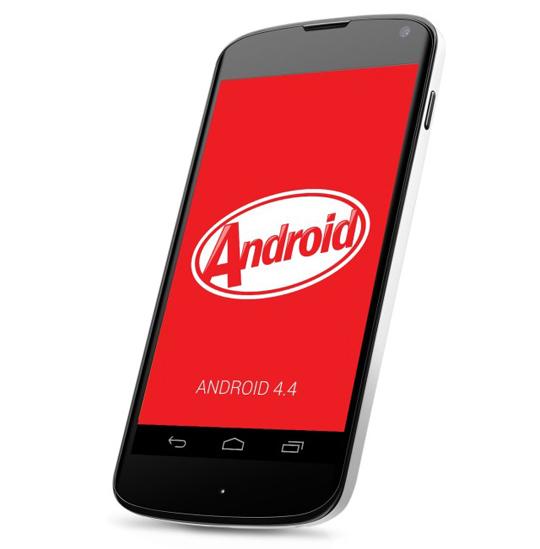 Nexus 4 con Android 4.4 KitKat logo egg