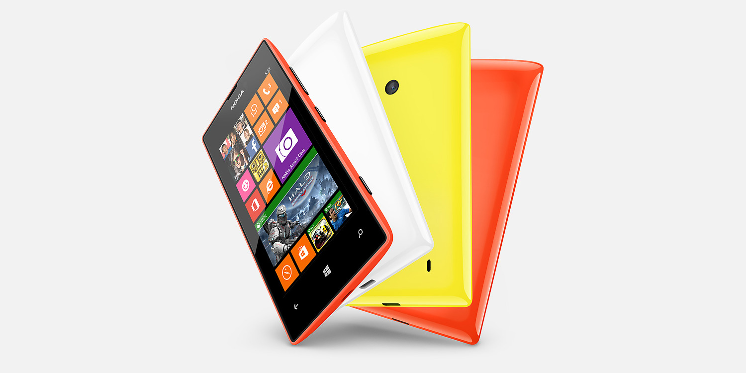 Nokia Lumia 525 con Windows Phone 8 colores