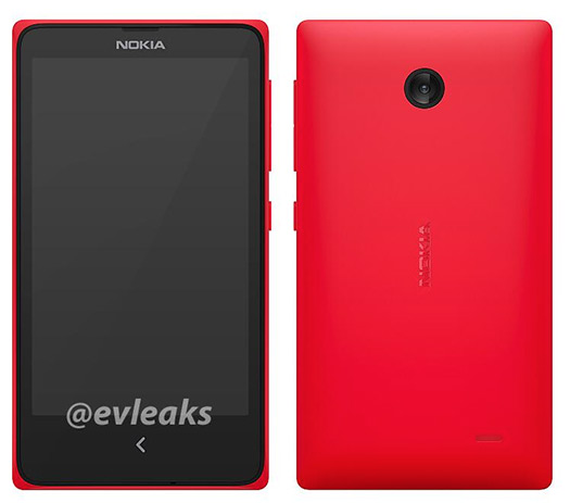 Nokia Normandy un Asha color rojo