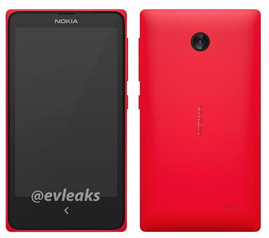 Nokia Normandy un Asha color rojo