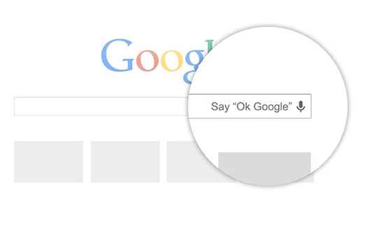 OK Google la búsqueda por voz en Chrome