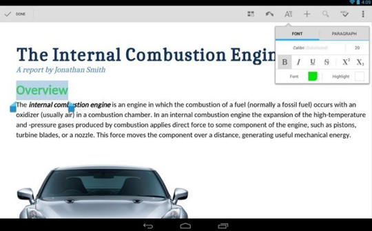 quickoffice para android