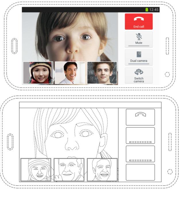 Samsung video conferecia multi usuario registro de derechos de autor