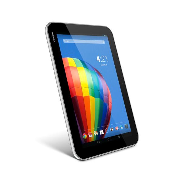 Toshiba Excite Pure tablet en México de lado pantalla