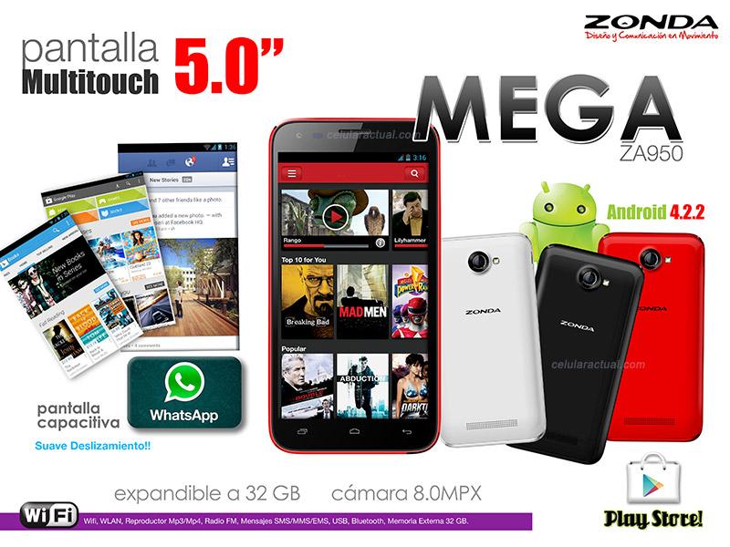 Zonda Mega ZA950 en México especificaciones