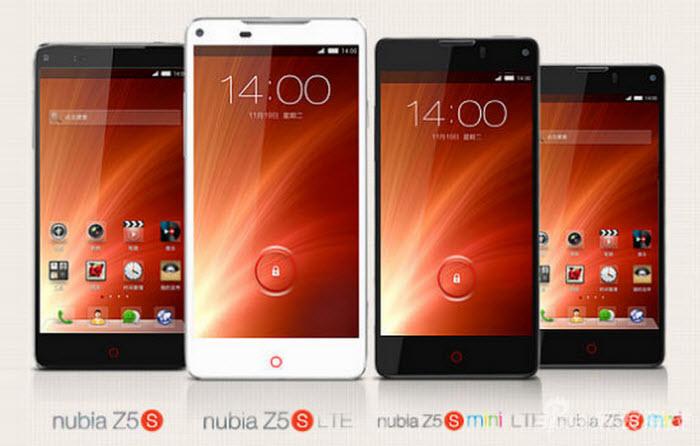 ZTE Nubia Z5S,  Nubia Z5S Mini,  Nubia Z5S LTE,  Nubia Z5S Mini LTE