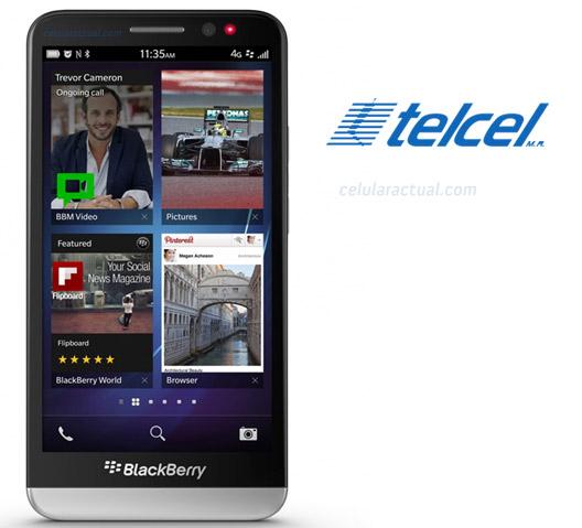 BlackBerry Z30 con amplia pantalla HD en México con Telcel