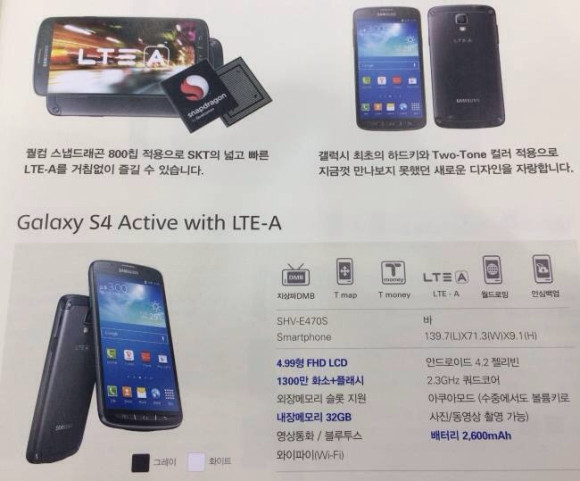 Galaxy S4 Active Snapdragon 800 13 MP