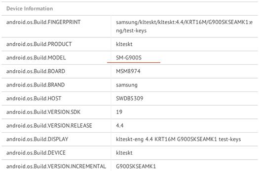 El Samsung Galaxy S5 en benchmarks se muestra con pantalla 2K