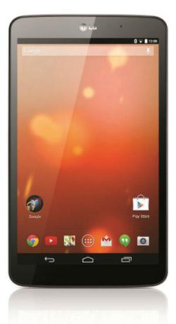 LG G Pad 8.3 Google Play Edition con Android 4.4 KitKat pantalla