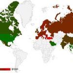 Mapa muestra costo de iPhone 5s alrededor del mundo