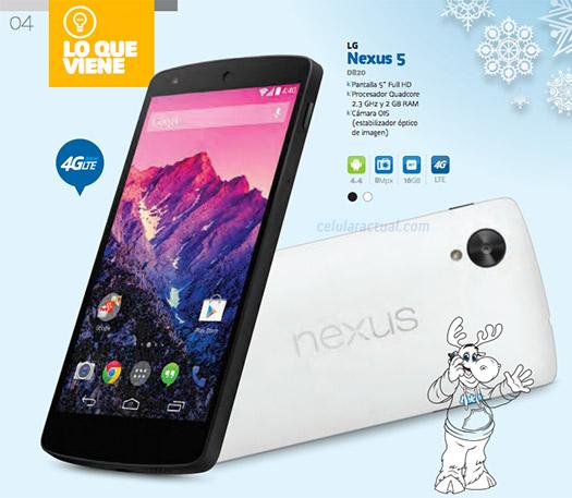 LG Nexus 5 de 16 GB  en México con Telcel