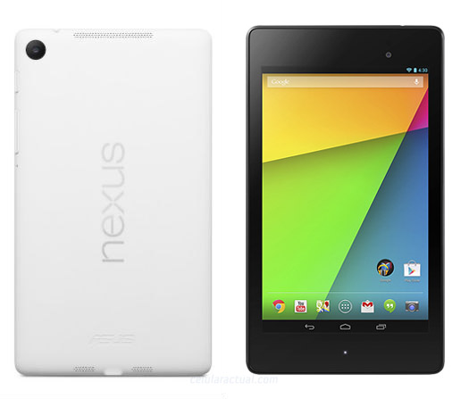 Nexus 7 HD color blanco oficial
