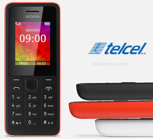 Nokia 106  en México con Telcel  logo