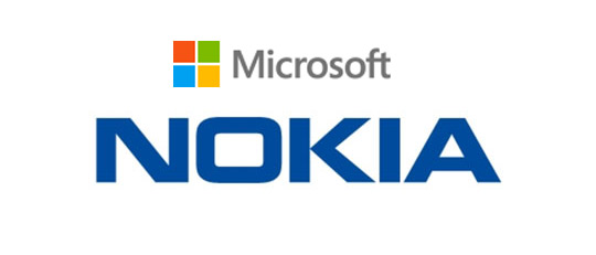 Microsoft Nokia logos