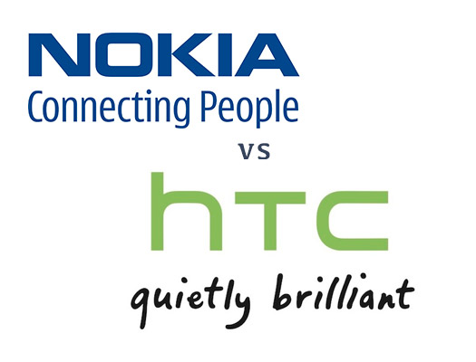 Nokia vs HTC logo