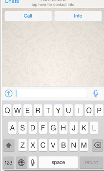 WhatsApp  iOS 7 con nuevo diseño Chat