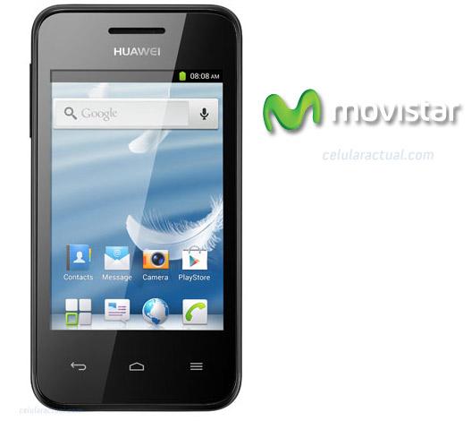 Huawei Ascend Y220 en México con Movistar logo