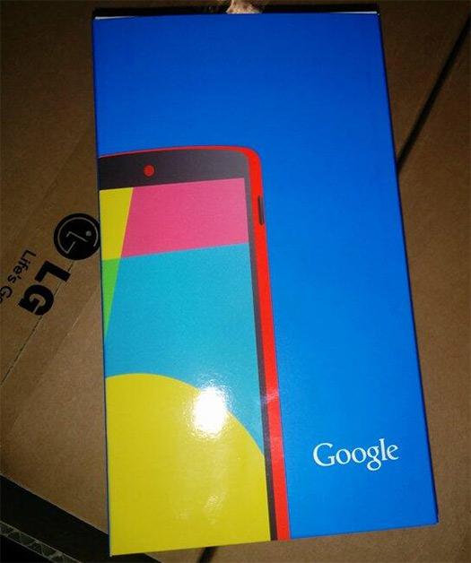 LG Nexus 5 en color rojo en caja