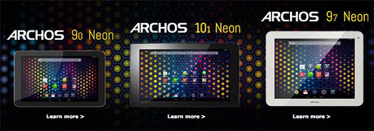 Archos 90 Neon, 97, Neon  101 Neon