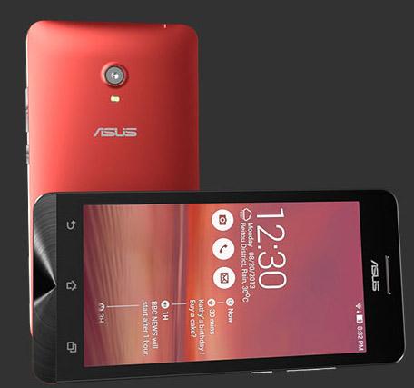 Asus Zenfone 6 phablet color rojo