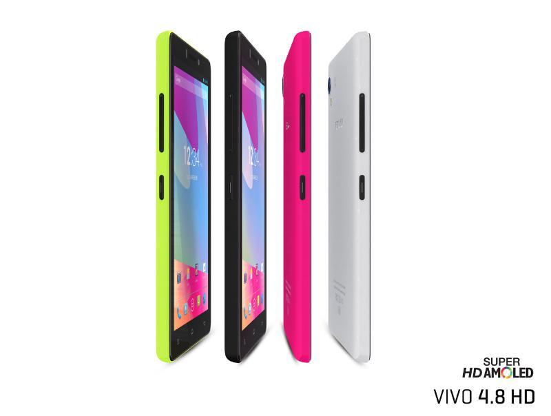 BLU Vivo 4.8 HD colores de lado