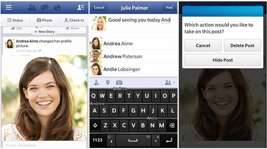 Facebook V10.3 para BlackBerry 10 se actualiza