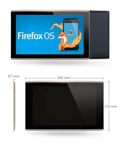 Tablet Firefox OS Flatfish detalles