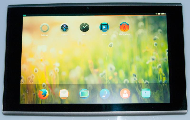 Tablet Firefox OS Flatfish pantalla en directo